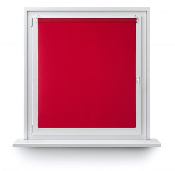 Roleta Mini gładka czerwień 505