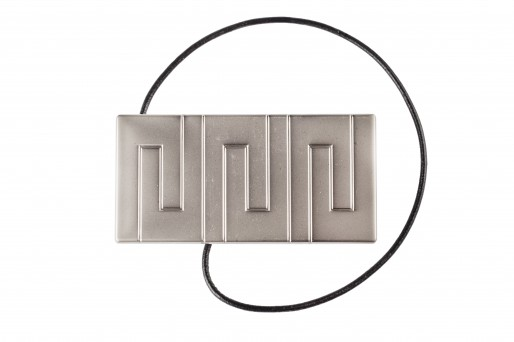 Decorative clip Rectangle Chrome-Mat