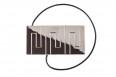 Decorative clip Rectangle Nickel