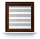 Roller blind in PVC cassette with guide Day-Night Classic Popiel 21