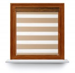 Roller blind in PVC cassette with guide Day-Night Classic Chałwa 09