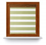 Roller blind in PVC cassette with guide Day-Night Exclusive Oliwka Paseczki BH2306
