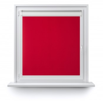 Roller blind in PVC cassette with a guide czerwień 505