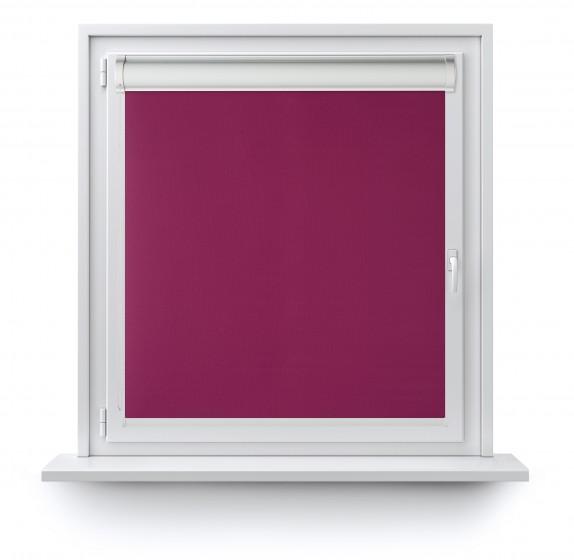 Roleta w Kasecie z prowadnicą gładka purpura 522