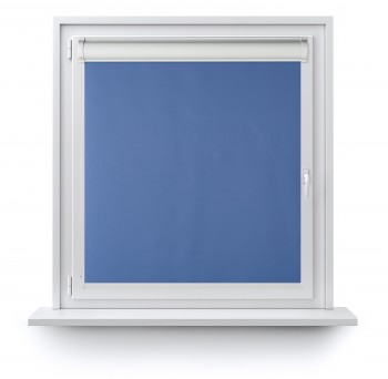 Blackout roller blind in PVC cassette with a guide szafir 206