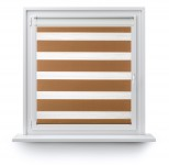 Roller blind in PVC cassette with guide Day-Night Classic Toffi 1210