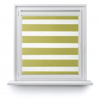 Roller blind in PVC cassette with guide Day-Night Classic Pamelo 1206