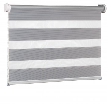 Wall mounted blind Day-Night Exclusive Srebro Paseczki BH2308