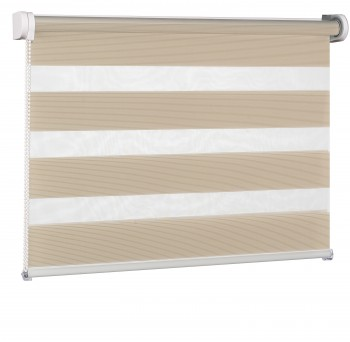 Wall mounted blind Day-Night Exclusive Capuccino Paseczki BH2303