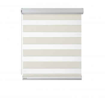 Cassette Superior roller blind Day-Night Classic Śmietanka 03