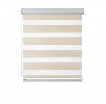 Cassette Superior roller blind Day-Night Exclusive Krem Paseczki BH2302