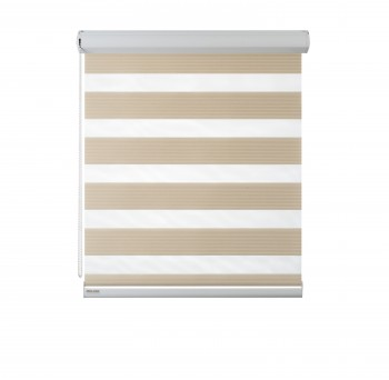 Cassette Superior roller blind Day-Night Exclusive Capuccino Paseczki BH2303