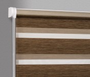 Wall mounted blind Day-Night Exclusive Piernikowy Drewnopodobny BH1503