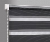 Wall mounted blind Day-Night Exclusive Czerń Paseczki BH2309