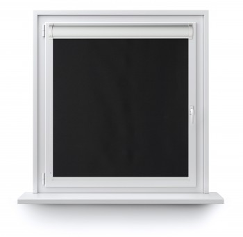 Blackout roller blind in PVC cassette with a guide czerń 069