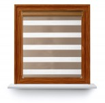 Roller blind in PVC cassette with guide Day-Night Classic Latte 02