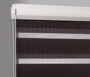 Cassette Superior roller blind Day-Night Classic Czekolada 04