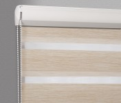 Cassette Superior roller blind Day-Night Exclusive Słomkowy Drewnopodobny BH1504