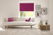 Roller blind in PVC cassette purpura 522
