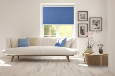 Blackout Roller blind in PVC cassette szafir 206