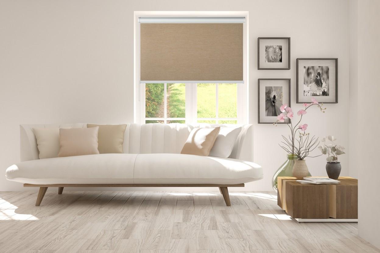 roleta w kasecie bez prowadnic melange kawowy 737. Black Bedroom Furniture Sets. Home Design Ideas