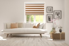 Roller blind in PVC cassette Day-Night Classic Toffi 1210