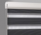 Cassette Superior roller blind Day-Night Exclusive Czerń Paseczki BH2309