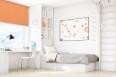 Freihängende Rollo pomarańcz 508