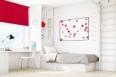 Wall mounted blind czerwień 505
