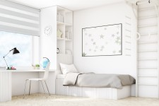 Wall mounted blind Day-Night Exclusive Alabaster BH1500
