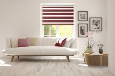 Roller blind in PVC cassette with guide Day-Night Classic Wino 1217