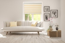 Roller blind in PVC cassette with guide Day-Night Classic Wanilia AG313