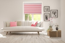 Roller blind in PVC cassette with guide Day-Night Classic Sorbet 604