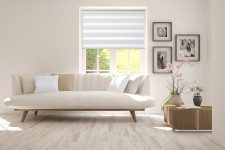 Roller blind in PVC cassette with guide Day-Night Classic Porcelanowy 01