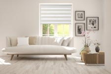 Roller blind in PVC casette with guide Day-Night Exclusive Biel Paseczki BH2301