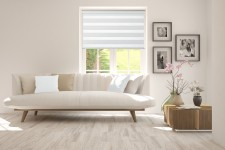 Roller blind in PVC cassette with guide Day-Night Exclusive Alabaster BH1500