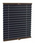 Basic premium pleated blind onyx