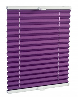 Basic premium pleated blind śliwka