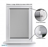Mini Roller Blind Blackout stalowy 061