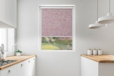 Roller blind in PVC cassette with a guide Borneo bordowy 106
