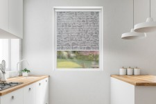 Roller blind in PVC cassette with a guide Borneo czerń 107