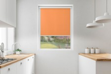 Roller blind in PVC cassette with a guide pomarańcz 508