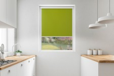 Roller blind in PVC cassette with a guide pistacjowy 528