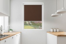 Roller blind in PVC cassette with a guide trufla 524