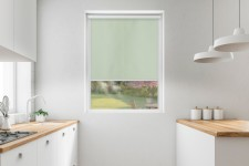 Blackout roller blind in PVC cassette with a guide laguna 055
