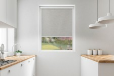 Blackout roller blind in PVC cassette with a guide gołębi 064