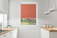 Blackout roller blind in PVC cassette with a guide koniak 213