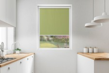 Blackout roller blind in PVC cassette with a guide oliwka 205