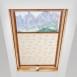 Plisa dachowa z nadrukiem białe margarytki